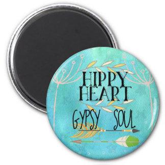 Hippy Heart Gypsy Soul Magnet