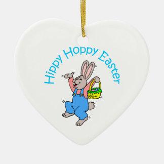 Hippy Hoppy Easter Christmas Ornament