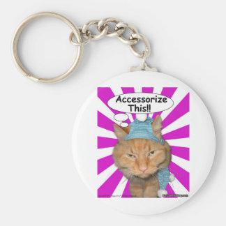 Hippy Kitty Accessorize This!! Basic Round Button Keychain