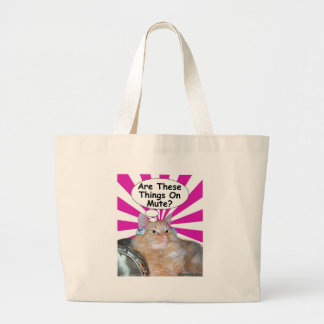 Hippy Kitty Are These Things On Mute? Tote Bag