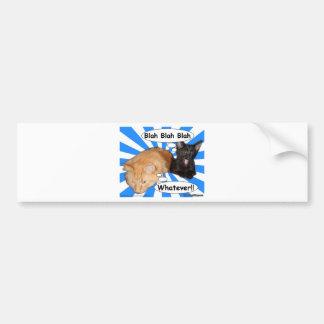 Hippy Kitty Blah Blah Blah Whatever!! Bumper Sticker