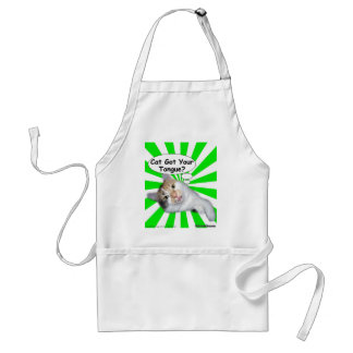 Hippy Kitty Cat Got Your Tongue? Adult Apron