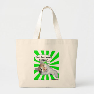 Hippy Kitty Cat Got Your Tongue? Canvas Bag