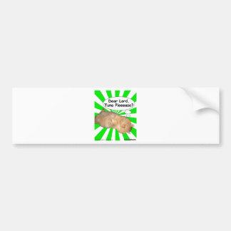 Hippy Kitty Dear Lord, Tuna Pleeease? Bumper Sticker