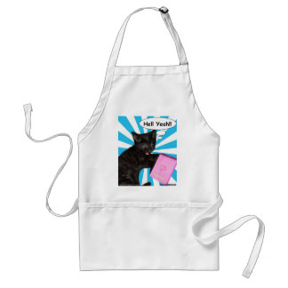 Hippy Kitty Hell Yeah!! Cats Rule Adult Apron