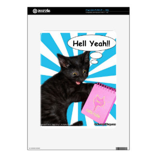 Hippy Kitty Hell Yeah!! Cats Rule Skin For iPad