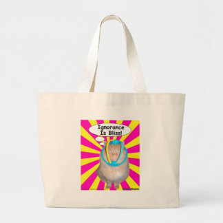 Hippy Kitty Ignorance Is Bliss! Tote Bag