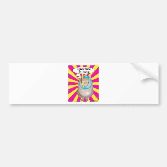 Hippy Kitty Ignorance Is Bliss! Bumper Sticker