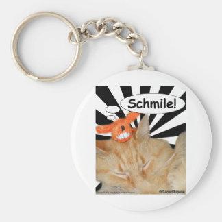 Hippy Kitty Schmile! Basic Round Button Keychain