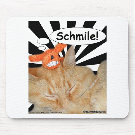 Hippy Kitty Schmile! Mouse Pad