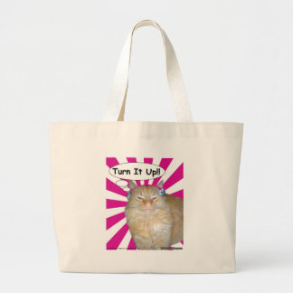 Hippy Kitty Turn It Up!! Canvas Bag