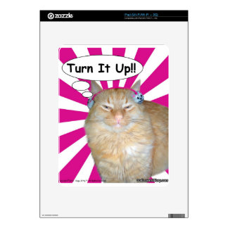 Hippy Kitty Turn It Up!! Decals For iPad