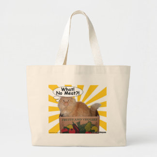 Hippy Kitty What! No Meat?! Canvas Bags