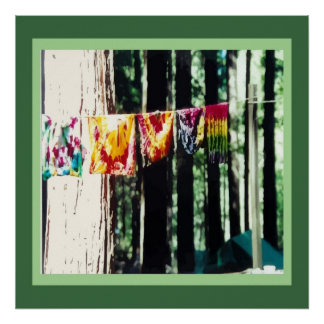 Hippy Laundry Poster