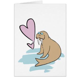 Hippy Love Walrus Card