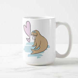 Hippy Love Walrus Coffee Mug