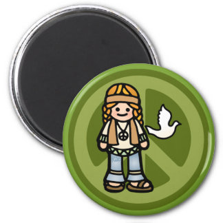 hippy magnetism. 2 inch round magnet