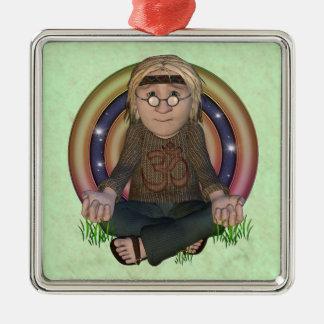 Hippy Meditation Premium Ornament