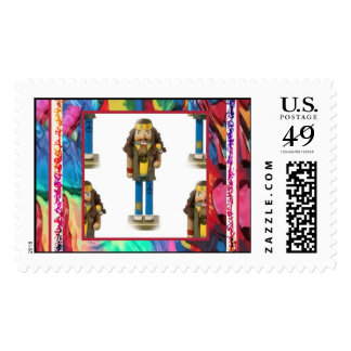 Hippy Nutcracker Postage Stamps