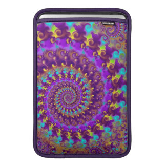 Hippy Pattern Purple Turquoise and Yellow Sleeve For MacBook Air