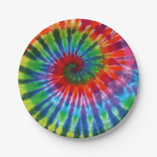 Hippy Peace Retro 60s Tie Dye Paper Plate  sc 1 st  Zazzle & Retro Tie Dye Plates | Zazzle