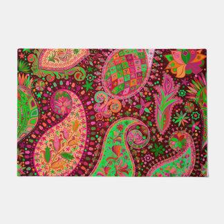 Hippy Peace Retro Colorful Boho Chic Doormat