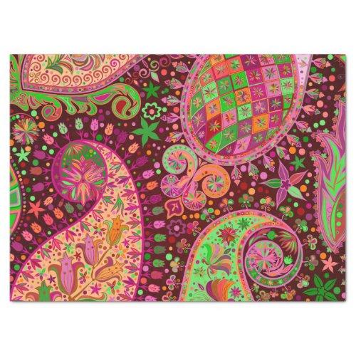 Hippy Peace Retro Hand Colorful Boho Tissue Paper