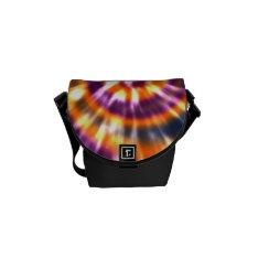 Hippy Peace Retro Tie Dye Colorful Boho Courier Bag at Zazzle