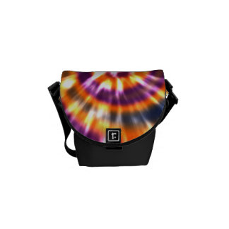 Hippy Peace Retro Tie Dye Colorful Boho Courier Bag