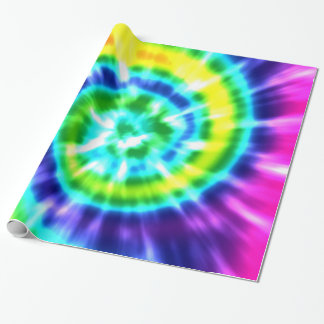 Hippy Peace Retro Tie Dye Colorful Boho Wrapping Paper