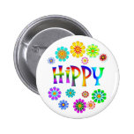 HIPPY PINBACK BUTTONS