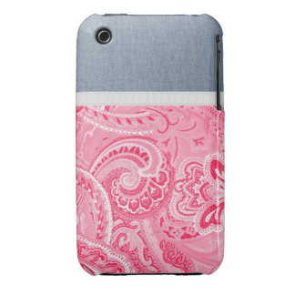 Hippy Pink Bandanna iPhone 3 Cases