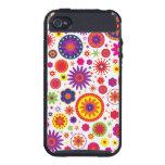 Hippy Rainbow Flowers iPhone 4/4S Covers