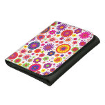 Hippy Rainbow Flowers Leather Wallets