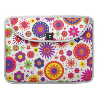 Hippy Rainbow Flowers MacBook Pro Sleeve