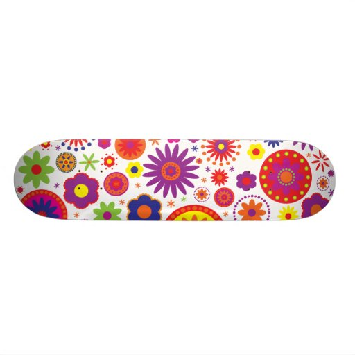 Hippy Rainbow Flowers Skate Board Decks