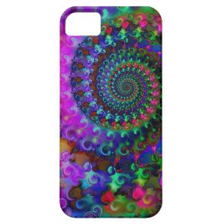 Hippy Rainbow Fractal Art Pattern iPhone 5 Covers