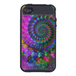 Hippy Rainbow Fractal Art Pattern iPhone 4 Case
