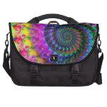 Hippy Rainbow Fractal Art Pattern Laptop Computer Bag