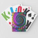 Hippy Rainbow Fractal Art Pattern Bicycle Card Decks