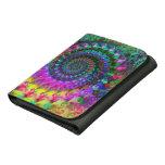 Hippy Rainbow Fractal Art Pattern Wallet