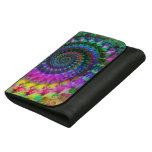 Hippy Rainbow Fractal Art Pattern Wallets