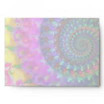 Hippy Rainbow Fractal Pattern Envelope