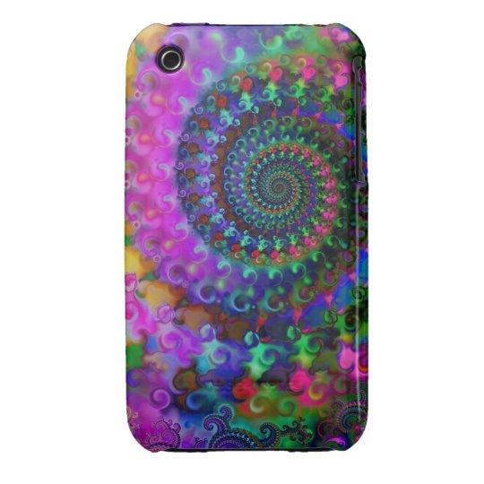 Hippy Rainbow Fractal Pattern iPhone 3 Case-Mate Case