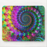 Hippy Rainbow Fractal Pattern Mouse Pad