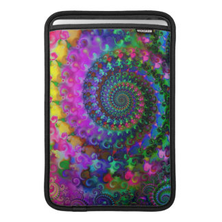 Hippy Rainbow Fractal Pattern Sleeve For MacBook Air
