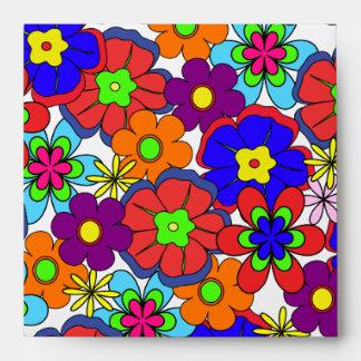 Hippy Retro Flowers Envelope