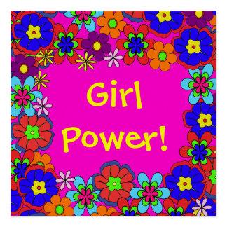Hippy Retro Flowers Poster