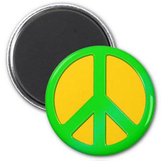 Hippy, Retro Peace Symbol - No More War Theme Magnet