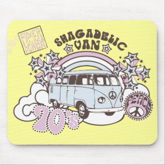 Hippy retro Van de los años 70 de Shagadelic Tapete De Raton